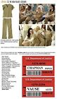 KHAKI Orange is the New Black WOMENS PRISON 2pc COSTUME cosplay Inmate Halloween
