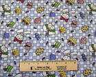 FABRIC QUILT 2 YARDS EASTER BUNNY RABBITS COTTON calico applique quilting NEW