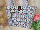 MARY ENGELBREIT Very Very Cherries* QUILTED Large MARKET TOTE Bag NEW!