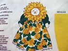 Sunflower Fabric Doll Springs Industries Fabric Panel 12 Inches Finished Craft