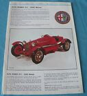 Pocher Alfa Romeo scale 1:8 water transfer decals aufkleber set