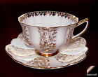 Shelley Cup & Saucer Gold  Scalloped Cup & Scalloped  Saucer 0380 Gilt