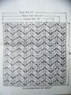Vtg Mail Order TULIP Quilt Pattern All Bed Sizes Reversible Puff Style