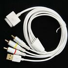 Composite RCA AV Cable Video TV USB Charger for iPhone 4 4S iPad 2 3 iPod Touch