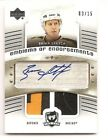 Brian Leetch 2005-06 Upper Deck The Cup Emblems of Endorsements Patch Auto 3 15