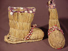 Antique traditional vintage Japanese Straw winter snow Boots Shoes