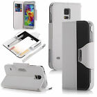 Luxury PU Leather Wallet Flip Pouch Case Stand Cover For Samsung Galaxy S5 i9600