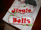 2 Fitz and Floyd Mingle Jingle Be Merry Christmas Jingle Bells Serving Trays