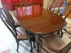 Ethan Allen Georgian Court Queen Anne Solid Cherry Dining TABLE Only