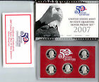 US 2007-S Mint SILVER Quarter Proof Set with 5 Coins with Original Box and COA