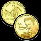 1 oz ELVIS PRESLEY THE KING OF ROCK 1935-1977 pure .999 24k gold clad Coin