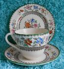 Vintage Copeland Spode England Chinese Rose Trio ~ Older Mark ~ Near Mint