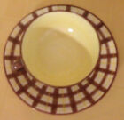 Italian Demitasse set of 2  Pottery Hand Painted Brown checkered with yellow