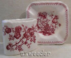 Mason's England MANCHU Cigarette Holder & Ashtray Pink/Red Floral Butterfly