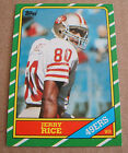 1986 TOPPS JERRY RICE RC # 161 & 1999 FINEST EDGERIN JAMES RC BGS 8.5