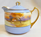 NORITAKE CREAMER W/LID ,HAND-PAINTED, GOLD TRIM HANDLES,c.1914-40,LOVELY PIECE!!