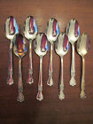 LOT of 8 TEA SPOONS! Vintage OLD COMPANY PLATE SIGNATURE pattern: EXCELLENT!
