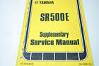 Yamaha SR500E Supplementary Service Manual