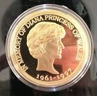 1 oz In Memory Of Diana Princess Of Wales pure .999 24k gold clad Bullion Coin