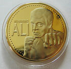 MUHAMMAD ALI 24K GOLD Plated Commemorative COIN/ Medal BOXING STAR +Capsule RARE