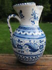 Vintage Portugal Pottery Pitcher-Blue & White-Faience