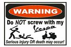 Vespa Moped Scooter Funny Warning Sticker Go Bike Toy Sign Decal Label D733
