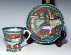 Antique Japanese Chinese Export Kangxi Style Cup and Saucer, Eggshell Fine