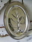 Large Silver Plate Carving Tray Silverplate Meat Platter Wedding Serving Tray
