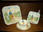 Old c1930's Oliver Twist Charles Dickens Meakin Ceramic Plate Cup Saucer England