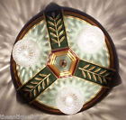 { BEAUTIFUL}  VINTAGE  20-30's  CEILING LIGHT LAMP Fixture POLYCHROME 3 Lights