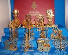 Danbury Mint Gold Christmas Ornament Collection - 1985 - 12 Pieces