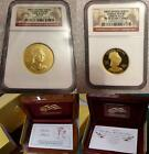 2008 FIRST SPOUSE LOUISA ADAMS NGC MS70 PR 70 PF NO SPOTS 2 COIN SET BOX