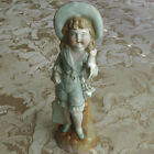 Antique German Porcelain Victorian Boy Girl Figurine with Boat Paddle #76