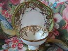 Antique RC (Royal Crockery) Nippon Hand Painted Jeweled  Plate & Cup - 1906-1910