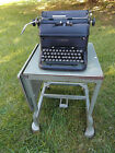 Mid Century Factory Metal Typewriter Table Stand Industrial Cart Steampunk