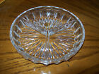 Bleikristall Lead Crystal Clear Divided CandyNut Dish Bowl Germany