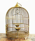 Beautiful Vintage Solid Brass Full Size Bird Cage