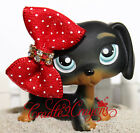 Littlest Pet Shop  ❀ LPS ❀ RARE BLACK DACHSHUND DOG BLUE EYES # 325