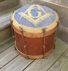 RARE Antique Masonic Bass Drum Freemasonry Parade Square & Compasses Fraternity