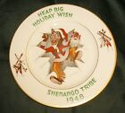 Vtg 1948 Shenango Pottery China Indian Santa Christmas Plate Dish New Castle Pa