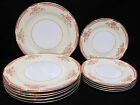 Noritake Rose China Occupied Japan Pattern R011 Plates 5 Dinner 5 Salad