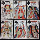 c1775 Historic Poker Playing Cards Hand Colored Authentic Museum Quality