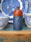 Early Antique Spice Box Cupboard Blue Paint ABC Chart