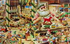 vintage Santas Christmas Toy Factory with Elves working