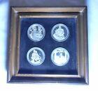 The Four Seasons by Norman Rockwell Sterling Coin Set in Wooden Frame No COA