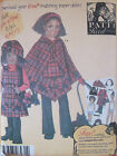 Simplicity 4898 Girl's PANTS Jumper PONCHO Hat PATTY REED Sewing Pattern sz 3-14