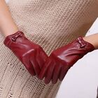 Womens Genuine Nappa Leather Dress Classic Gloves with Bow 5 Color On Sale #101