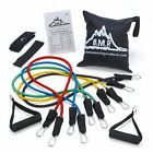 Resistance Band Set with Door Anchor Ankle Strap Exercise Chart and Resistance