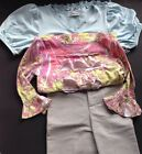 NEW Little Girls LAMAN BLU Long Sleeve Shirt Shorts Outfit Set Pink Size 4/5