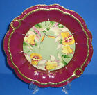 ANTIQUE PORCELAIN CABINET PLATE HAND PAINTED GOLD DAFFODILS GERMANY c 1895-1910